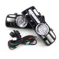Front Bumper Grill LED Fog Light Grille With LED DRL Lamp for VW Golf MK4 97-03