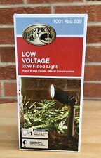 Hampton Bay Low Voltage 20W Flood Light  Aged Brass Finish NOS