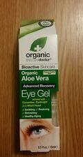 Dr Organic Aloe Vera Eye Gel soothing restoring refreshing healthy-aging