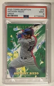 2020 PSA 9 TOPPS INCEPTION CHICAGO CUBS ANTHONY RIZZO #75 MINT