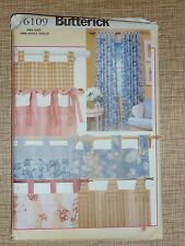BUTTERICK - HOME DECORATING PATTERN #6109 *TAB CURTAINS* - UNCUT
