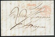 ÖSTERREICH 1844 VORPHILABRIEF von TRIEST nach BOLOGNA TRANSIT ITALIEN(D0999