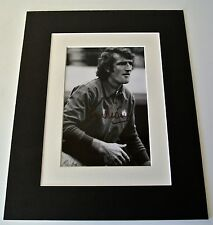 Alex Stepney Signed Autograph 10x8 photo display Manchester United Football COA