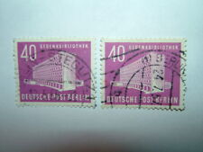1954 BERLINO OVEST 40pf Memorial Library VFU x 2 (sgB120) CV £ 10.50