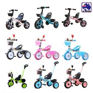3 Wheel Bike Bicycle Tricycle Trike Basket Kids Children Toddler Toy TDA51