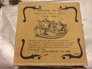 vintage Dolls house Shackman Porcelain Limoge Style Tea Set