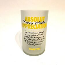 Absolut Citron Appreciation Glass Tip Jar Promotional Collectible Absolut Vodka