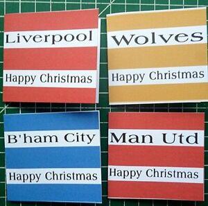 Football Christmas/Birthday Gift Tags FREEPOST UK-self adhesive- 4-8-12 per pack
