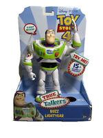 Buzz Lightyear True Talkers Talking Action Figure Disney Pixar NIB Toy Story 4