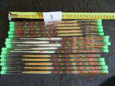 lot de 15 plumes pour pêche au lancer et a l'anglaise