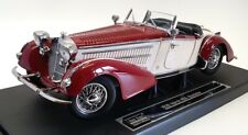 Sun Star 1/18 Scale Model Car 2406 - 1939 Horch 855 Roadster - Red/White