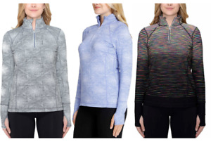 NEW!! Kirkland Women's Thumbhole Quarter Zip Pullover Variety #163