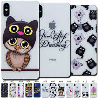 For Apple iPhone X/XS Soft Silicone TPU Case Cover Pattern Cute Back Clear Skin