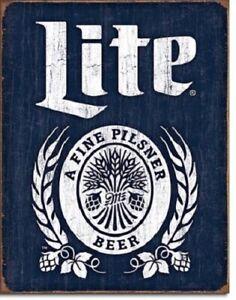 New Miller Lite Bottle Logo Decorative Metal Tin Sign