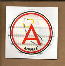 "(10)-California Angels Stickers 3"" Prizm Effect Printed on Kodak 80's/90's"
