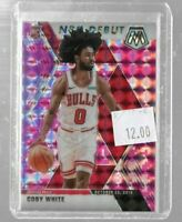 Coby White 2019 Panini Mosaic pink reactive nba debut rookie card -- Bulls