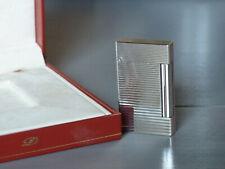 S.T. Dupont Lighter / Feuerzeug Linie D (Damen) - Silber - längsgestreift  *TOP*