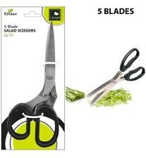 Shredding Scissors 5 Blade Multi Cut Security Paper Shredder Herb Kitchen Tool