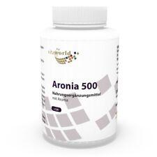 Vita World Aronia 500mg 120 Vegi Kapseln  Zink Selen Vitamin C Made in Germany