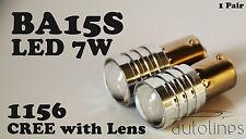 2x BA15S CREE LED 7W 1156 White Car Signal Reverse Break Tail Light Bulbs Globes