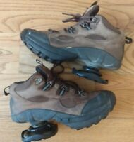 Women's Z-Coil Hiking Work Boots Size 9 Black Brown Pain Relief Comfort Shoes