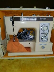 Vintage Brother 875 Sewing Machine, working, case, semi industrial, accessories