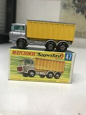 MATCHBOX LESNEY SUPERFAST #47 DAF TIPPER CONTAINER TRUCK W/ORIGINAL BOX