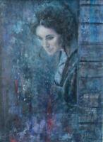 "GERRY MILLER- Acryl auf Leinwand. Unikat""Raindrops"" Original 30x40cm.Unframed."