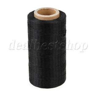 200 Meter Black Leather Craft Polyester Sewing Waxed Thread Cord 1mm 150D