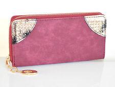 PORTAFOGLIO borsello donna AMARENA ORO portamonete borsellino clutch bag A16