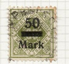 Wurttemberg 1922 Early Service Issue Fine Used 50M. Surcharged 156578