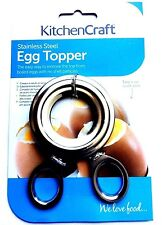 Acero Inoxidable Abridor de Kitchen Craft huevo Topper Cortador Herramienta De Casa