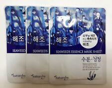 Korean Cosmetics {NATUREBY} Seaweed Ultra Essence Mask Sheet Pack, 3Sheet