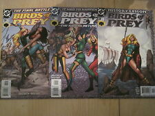 """BIRDS of PREY 28,29,30 : """"HISTORY LESSON"""", COMPLETE 3 ISSUE STORY. DC.2001"""