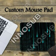 "Cool Binary Matrix Code Cool Mouse Pad 1/8"" thick-7.75""x9.25"" Gaming Mousepad"