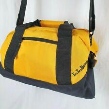 LL Bean Duffle Bag Small Adventure Traveler Yellow ERO Monogram Shoulder Strap