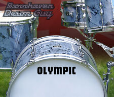 Olympic, 60s Vintage, Repro Logo - Adhesive Vinyl Decal, for Bass Drum Reso Head