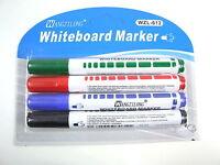 4 Colour Set Whiteboard Marker Pen Dry Erase Easy Wipe Drywipe White Board