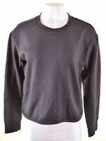 ADIDAS Womens Sweatshirt Jumper Size 12 Medium Black Cotton  CY05