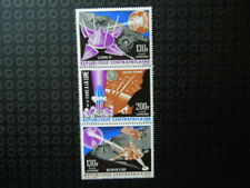 G913  CENTRAL AFRICAN  REP 1966    116-118  SPACE  LUNA  9 STRIP  MNH