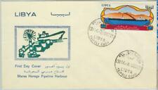 67026 - LIBYA - Postal History -  FDC Cover 1967 - PIPELINE Harbour BOATS