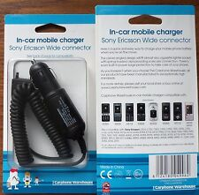2 X Sony Ericsson Car Charger Carphone Warehouse Boxed  [CHOOSE YOUR MODEL]