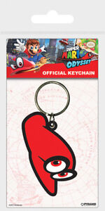 NINTENDO SUPER MARIO ODYSSEY CAPPY RUBBER KEYRING NEW OFFICIAL MERCHANDISE