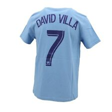 New York City FC Official MLS Adidas Kids Youth Size David Villa #7 T-Shirt New