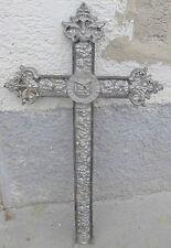 jugendstil grab stein kreuz antik alt grabkreuz guss eisen metall top deko INRI