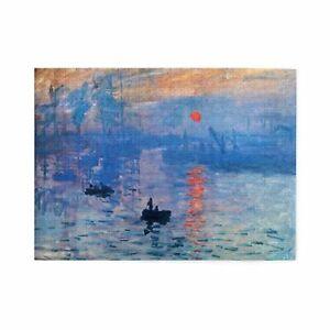 Impression Sunrise Claude Monet Retro Art Painting Wooden Jigsaw Puzzle 1000pcs