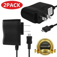 2X Travel AC Wall Micro USB Cable Charger Controller Adapter Astro A20 PS4 Xbox