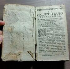 """Libro """"De Q.CURTIO RUFO TESTIMONIA""""  C. Cornelius Tacitus, Annal. XI"""