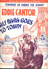 """ALI BABA GOES TO TOWN Sheet Music """"Swing Is Here To Sway"""" Eddie Cantor"""
