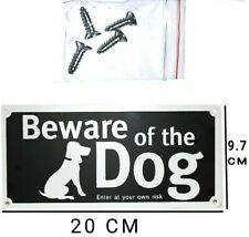 1 BEWARE OF THE DOG ENTER AT YOUR OWN RISK HOME SIGNS SAFETY CAUTION WITH SCREWS